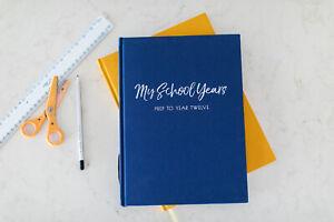 School Year Photo Book, School Days, School Photo Album, Navy Blue School Book