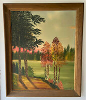 Vintage Signed Original Oil on Board Landscape Painting - H.E Werner, 1966