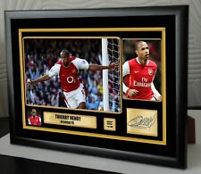 "THIERRY HENRY Framed Canvas Print Signed Great Gift Ltd Edition ""Great Gift"""