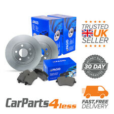 Toyota IQ KPJ1 NGJ1 KGJ1 NUJ1 - Pagid Rear Brake Kit 2x Disc 1x Pad Set Akebono