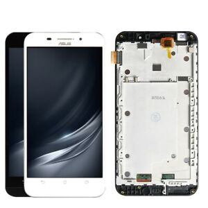 DISPLAY +TOUCH SCREEN ASUS ZENFONE MAX ZC550KL FRAME COVER Z010D BIANCO TELAIO