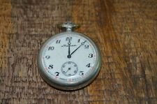 Russian Molnija Marnna Hunting Pocket Watch Wolves CCCP Vintage Ticking