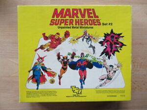 VINTAGE Marvel 12 Miniature Metal Figures Set 1984