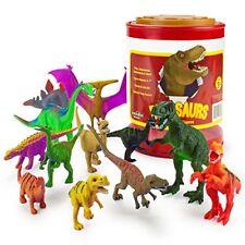 "Dinosaur Assortment in Storage Drum | 12 Dinos up to 7"" Long"