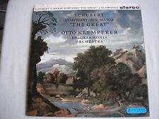 SAX 2397 B/S orig UK LP 1st SCHUBERT Symphony In C Maj Great KLEMPERER PO NM/ex+