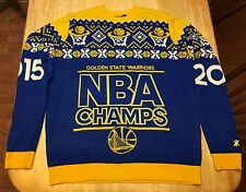 RARE Mens Golden State Warriors 2015 NBA Champs Knitted Sweater XL