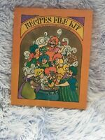 Vintage Recipes File Kit With 60 Colorful Blank Recipe Cards In Original Box