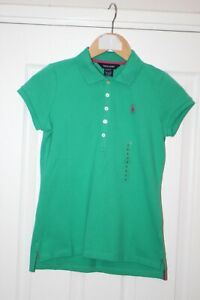 BNWT GIRLS RALPH LAUREN POLO SHIRT  LARGE 12-14 GREEN