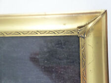 "Vintage Gold Tone Metal Picture Frame w/ Glass - Easel Back & Wall - 9"" X 12"""