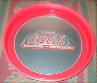 "Coca-Cola 13"" Metal Heavy Round Serving Tray-Delicious and Refreshing-Excellent"