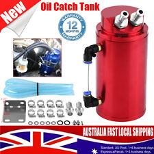 Billet Aluminum Car Racing Engine Oil Catch Tank Can Reservoir Round Hose Kit AU