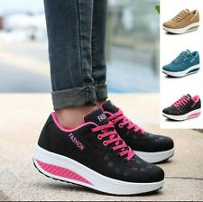 Womens Fashion Sport Comfortable Breathable Casual Thick Bottom Shake Shoes...