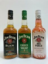 Jim Beam Choice & Black Label & Hot Winter Punch Limited Edition Whiskey bottle