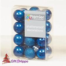 Decoración Árbol Navidad - 30mm Azul Medianoche adornos de - 24 Inastillable