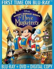 Disney Mickey, Donald Goofy The Three Musketeers (Blu-ray Disc, 2014, Set)