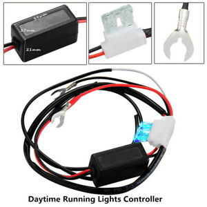 Car LED Daytime Light Automatic ON/OFF Control Module Switch Relay Harness DRL