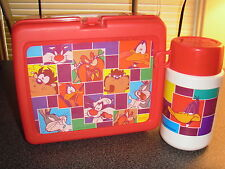 "1997 Vintage ""Looney Tunes"" Plastic Lunchbox W/Thermos"