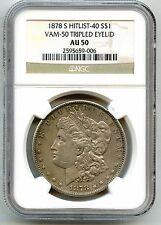 1878-S NGC MORGAN DOLLAR VAM-50 LAVA WING, TRIPLED EYELID. HIT LIST-40 REGISTRY