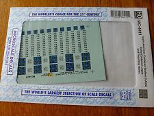 Microscale Decal HO  #MC-4411 NACS Logos & Reporting Marks