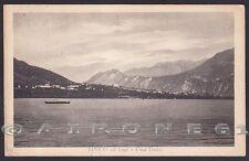 TRENTO LEVICO TERME 47 LAGO - CIMA DODICI Cartolina viaggiata 1934