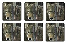 "WOLF COASTERS 1/4"" BAR & BEER SET OF 6"
