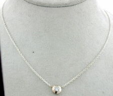 NEW DIAMOND NECKLACE 14K GOLD BEZEL - CLOSEOUT SALE