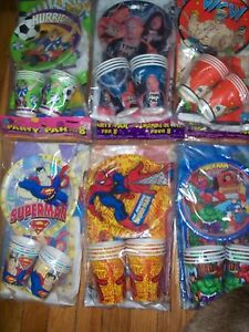 Party Pack for 8 Rare 80's 90's Characters Vintage Unique U Pick NOT a LOT NOS