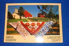 Amish Country Lancaster Pennsylvania Postcard Unused