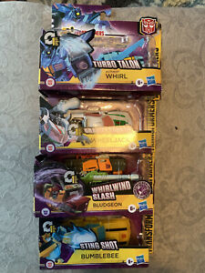 Transformers Action Attackers Lot Of 4 Bumblebee Bludgeon Wheeljack Whirl
