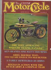 THE CLASSIC MOTORCYCLE JANUARY 1988 - ARIEL SQUARE FOUR / RED HUNTER TESTS