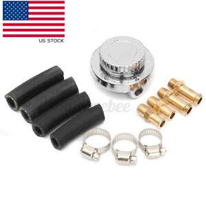 1-5 PSI Car Carburettor Hose Fuel Pump Pressure Regulator 8mm 10mm Adjustabl