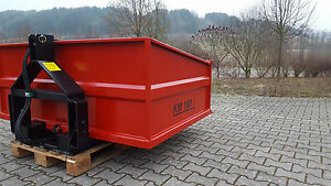 Heckcontainer, Kippmulde, Traktor, Schlepper, KM 180 s