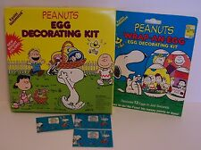 Snoopy Easter Egg Decorating Peanuts Wraps Coloring Stickers Charlie Linus Lot