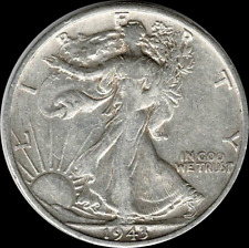 A 1943 S Walking Liberty Half Dollar 90% SILVER US Mint (Exact Coin Shown) W32