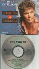 DAVID HASSELHOFF Looking For Freedom 3TRX MIX & INSTRUMENTAL CD Single USA Seler