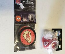 Kansas  City Chiefs antenna topper and a set of two car coasters / air freshene