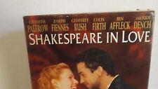 Shakespeare In Love (vhs 1998) Gwyneth Paltrow, Joseph Fiennes Vhs2-14