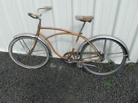 Vintage Original1960s Schwinn American Coaster Bicycle Ready for Restoration
