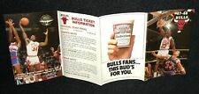 1987-88 CHICAGO BULLS BUDWEISER BEER BASKETBALL POCKET SCHEDULE MICHAEL JORDAN