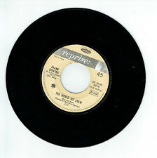 "Frank SINATRA Vinyl 45T 7"" THE WORLD WE KNEW - YOU ARE THERE -REPRISE 20129 RARE"