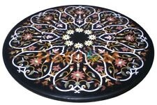 """32"""" Marble Center Coffee Table Top Precious Floral Inlay Dining Room Decor B620"""