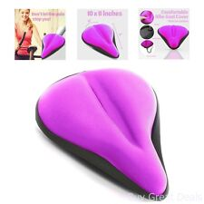 Wide Exercise Bike Gel Seat Cushions Wide Soft Pads Comfy Bicycle Saddle
