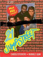 1988 Topps 21 Jump Street Bubble Gum Card Box (48)-Original Rare Item