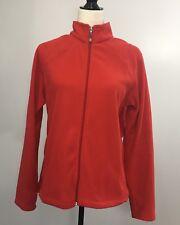 Women's DAKINI Fleece Jacket Size Large Red / Lightweight Coat Spring