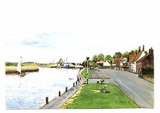 Norfolk Lavender Postcard England Fields Plants Gardens Oil Distillery Unposted