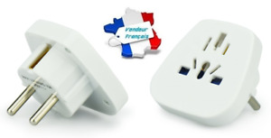 Adaptateur Prise Secteur Anglaise UK et Chinoise ~ J39-9 (Blanc)