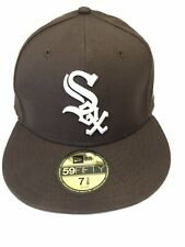 59Fifty Chicago White Sox 100% Wool Fitted 7 3/8 Baseball Hat Cap Brown