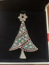 Swarovsk 2004 Rockefeller Center Christmas Tree Pin Stunning!