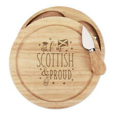 I'm Scottish And Proud Cheese Board Knife Set Scotland Rugby Flag