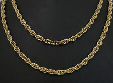"""Vintage 9Ct Yellow Gold 31"""" Fancy Patterned Prince Of Wales Link Chain(4mm Wide)"""